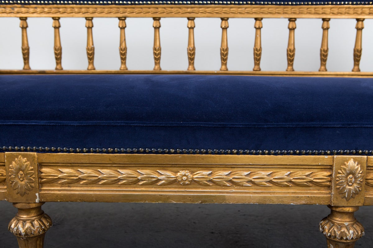 Sofa Swedish Gilded Gustavian or Neoclassical, 18th Century, Sweden For Sale 5