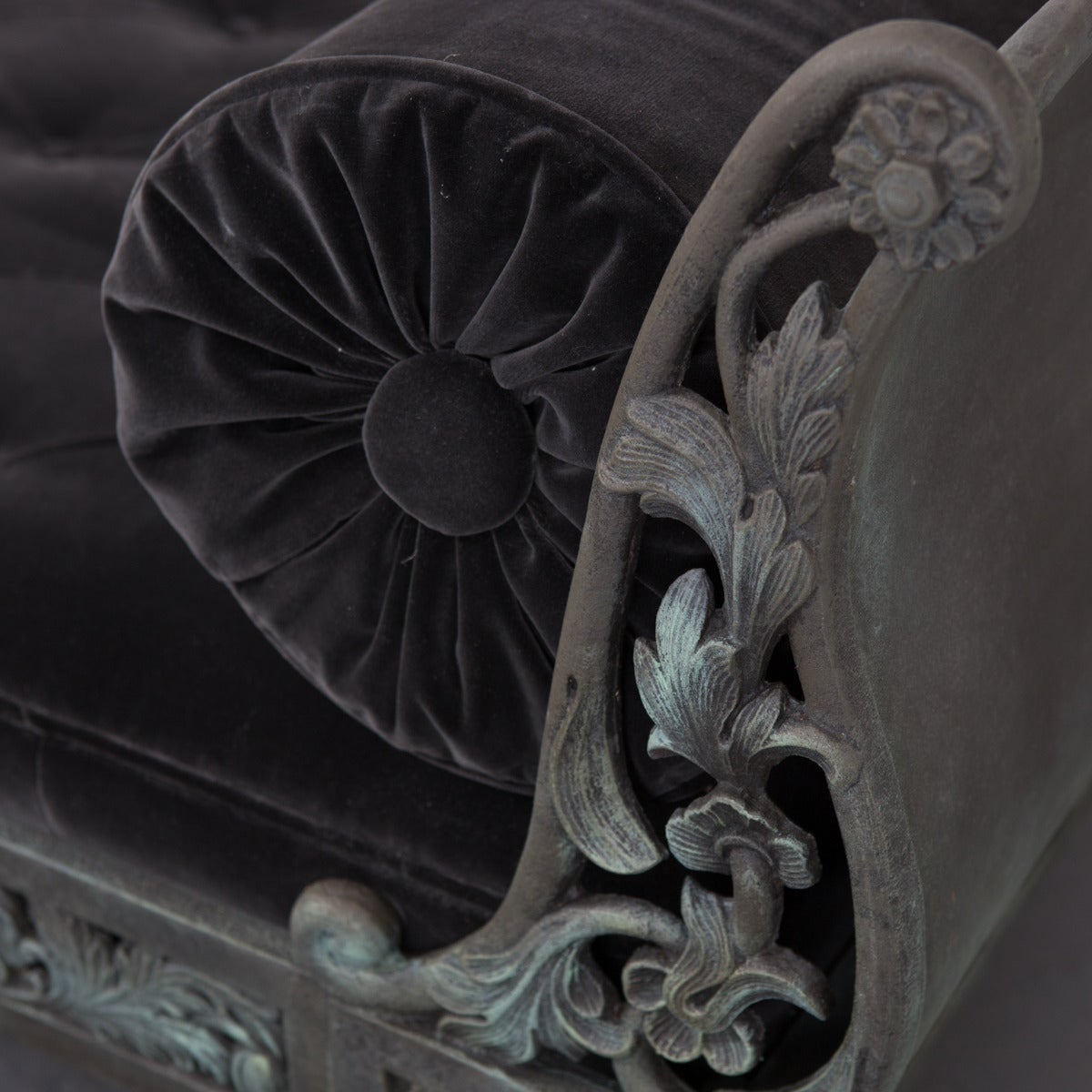 20th Century Daybed French Rococo Style Cast Iron France For Sale
