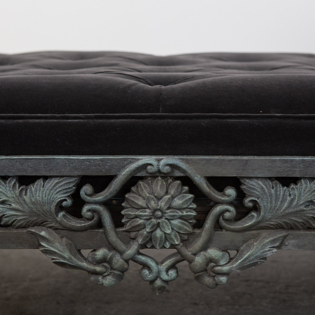Daybed French Rococo Style Cast Iron France For Sale 2