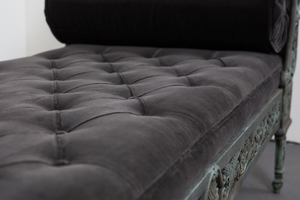Daybed French Rococo Style Cast Iron France For Sale 3