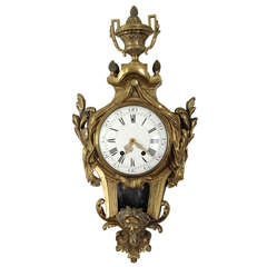 French Bronze Wall Clock