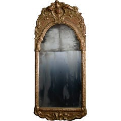 Mirror Swedish Rococo Period Original Gilding, Sweden