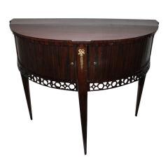 A Dutch Mahogany Demi Lune Table