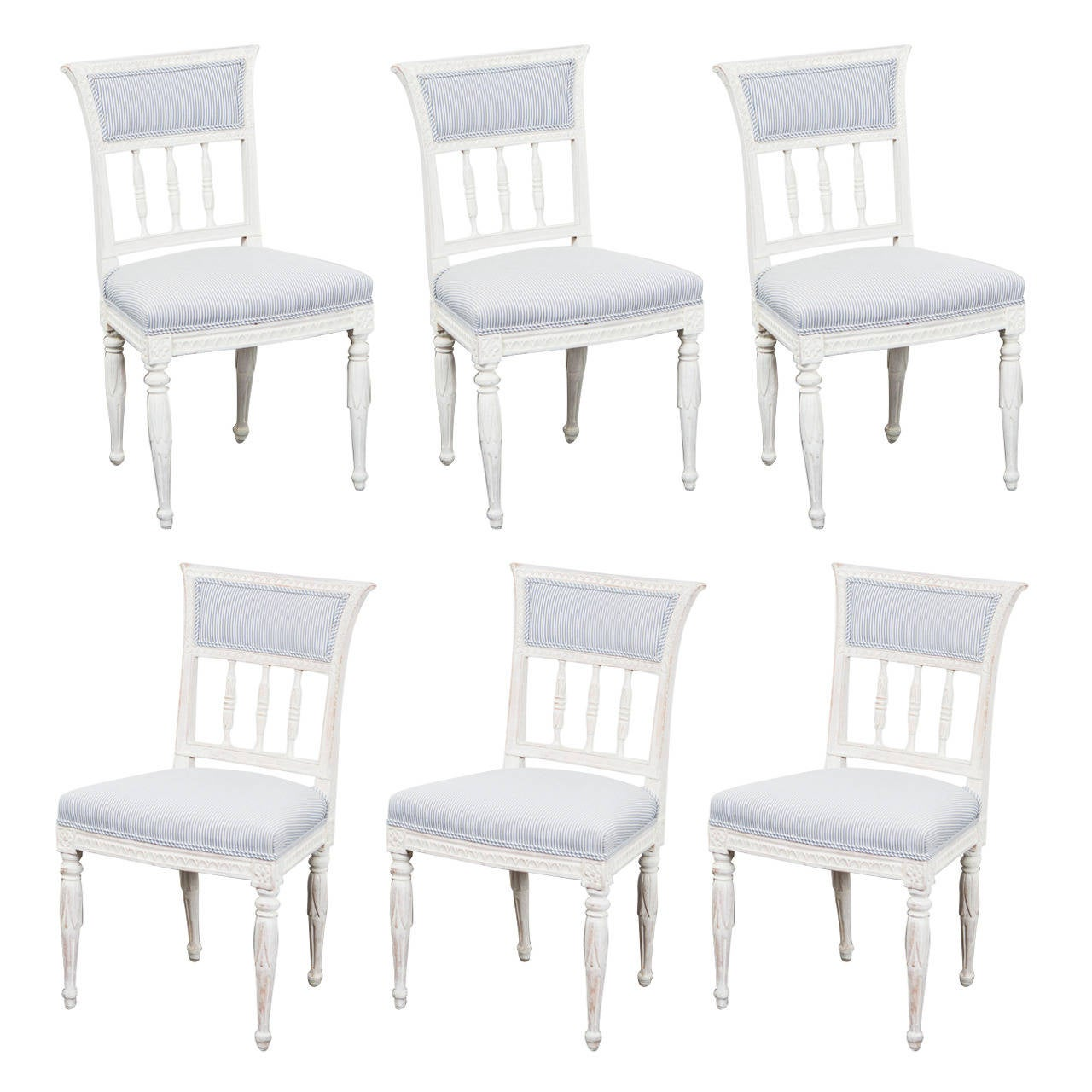 9def945903b13 Set of 6 Gustavian Dining Chairs Signed For Sale at 1stdibs