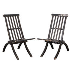 Black Swedish Chairs, Late 19th Century, Sweden