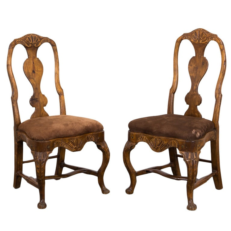 Pair of Fine Rococo Side Chairs