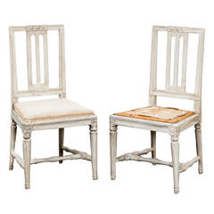Pair of Gustavian Side Chairs