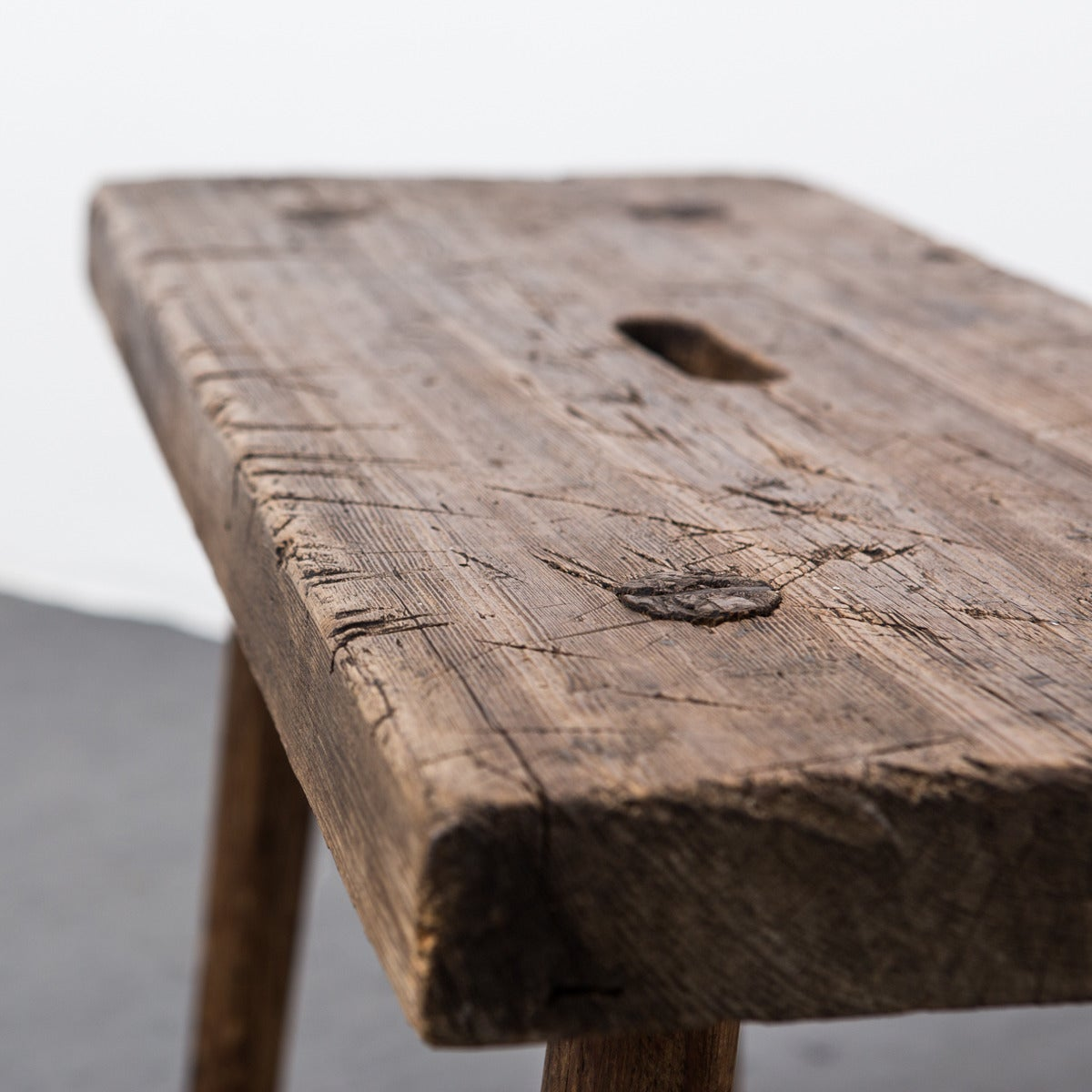 Bench made in Sweden during the 19th century.