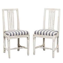 Set of Six Swedish Gustavian Dining Chairs