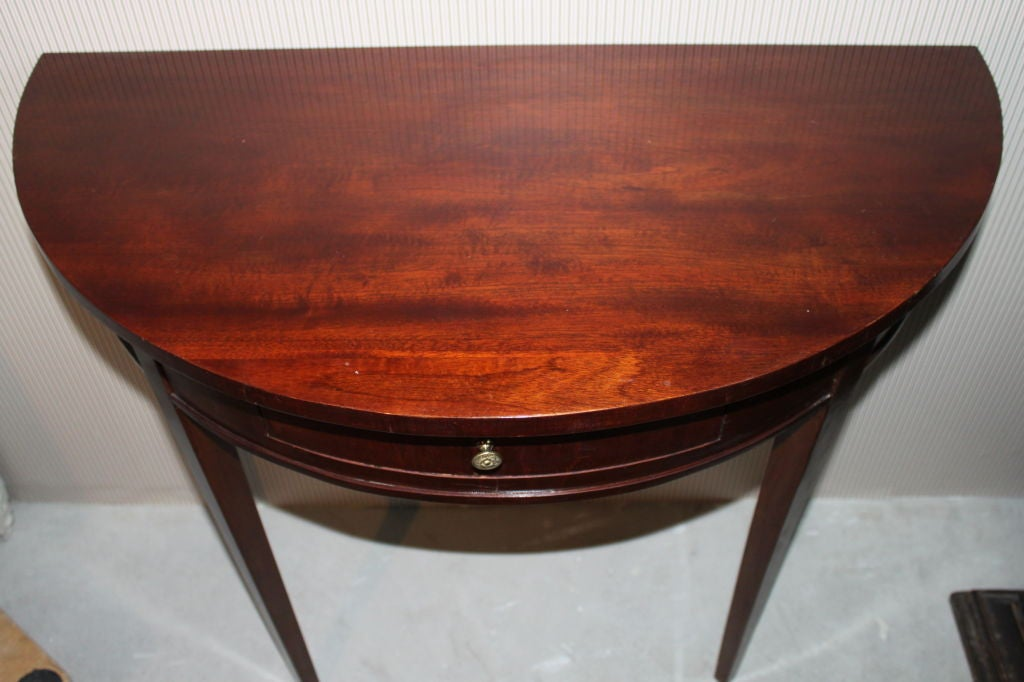 A Mahogany Demi Lune Table At 1stdibs