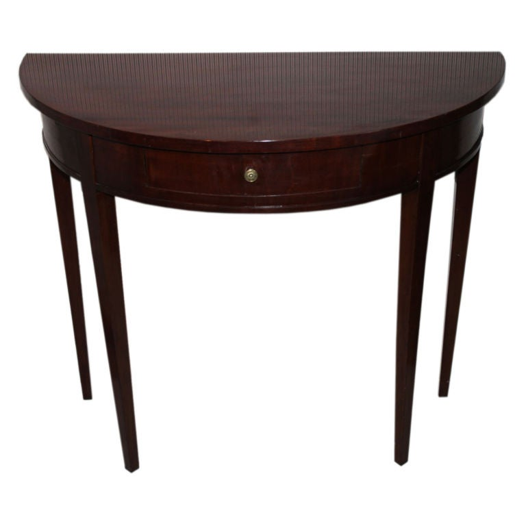 a mahogany demi lune table at 1stdibs. Black Bedroom Furniture Sets. Home Design Ideas