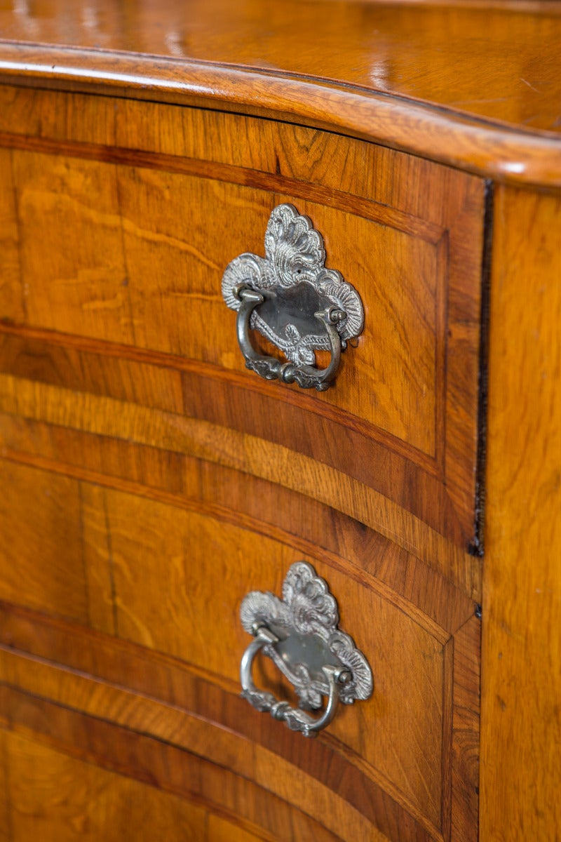 20th Century Chest of Drawers in Late Baroque Style with Silver Hardware For Sale