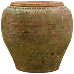 Green Pottery Urn