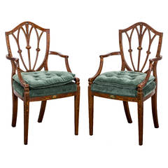 Pair of English Chippendale Armchairs