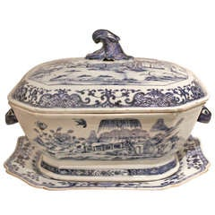 Blue and White Tureen 18th Century