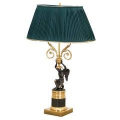 Lamp Table Russian Guilt Bronze Empire Period, Russia