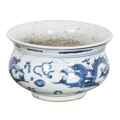 Cachepot with Dragon