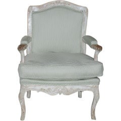Armchair Swedish Rococo White Green 18th Century Sweden