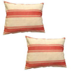 Pair of Pillows Made from Swedish Fabric