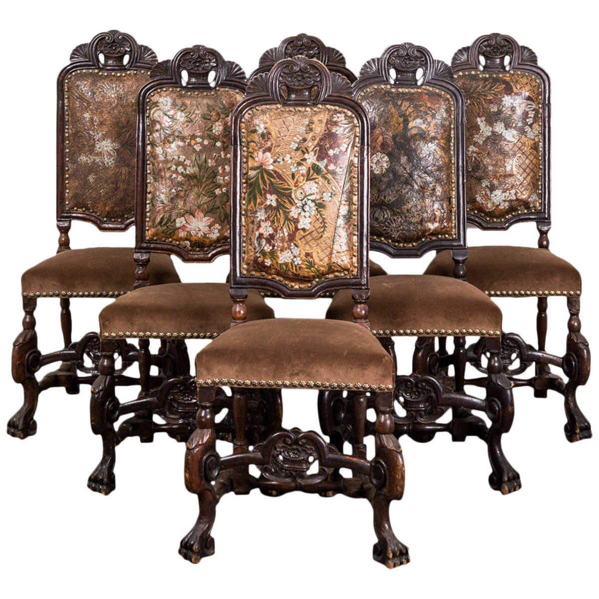 Set of Six Baroque Style Dining Chairs