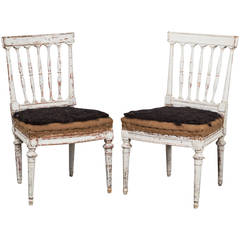 Pair of Early Gustavian Side Chairs, Sweden