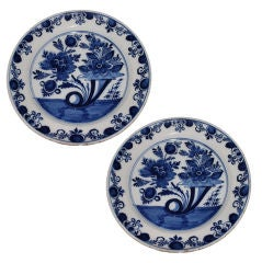 Pair of 18th Century Dutch Delft Plates