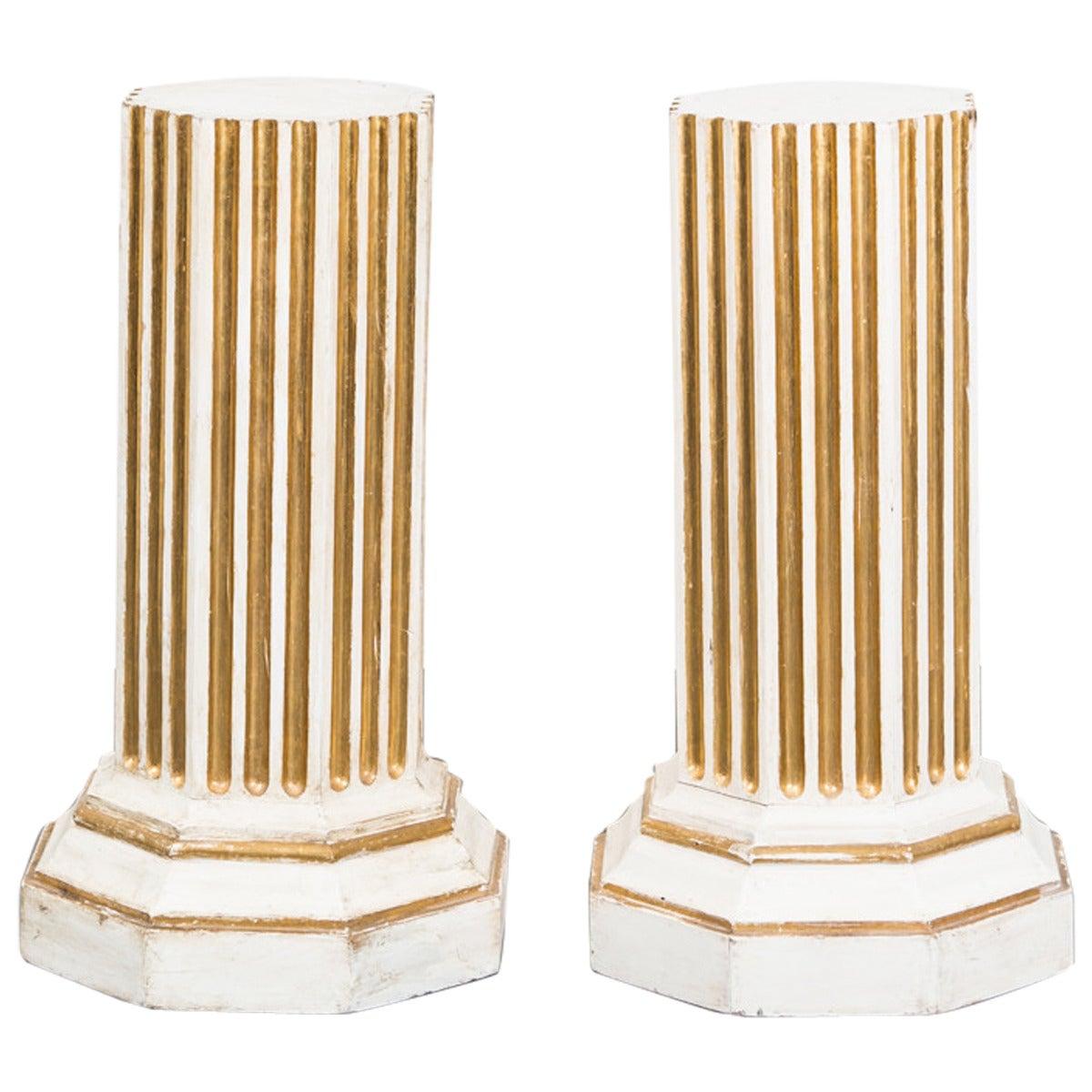 A pair of 18th Century Gustvian Pedestals Sweden