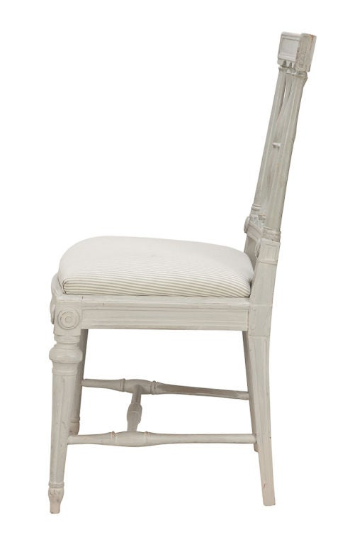 Swedish A Set Of 8 Assembled Chairs For Sale