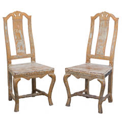 Pair of Swedish Baroque Chairs
