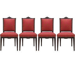 A Set of 4 Louise XVI Side Chairs