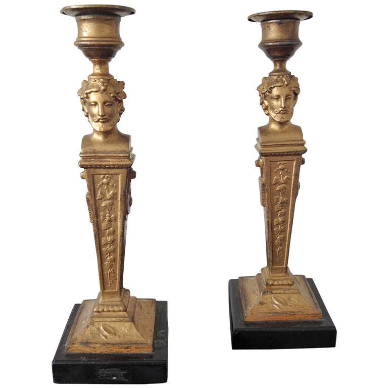 French Neoclassical Candlesticks 1