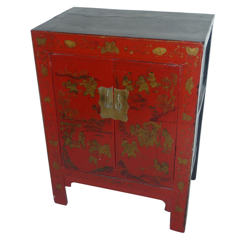 "Chinese ""A La Chinoise"" Nightstand For Sale"