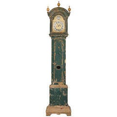 A Swedish 18th Century Floor Clock In All Original Painting