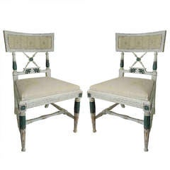 A Set of 4 Swedish Neoclassical Side Chairs