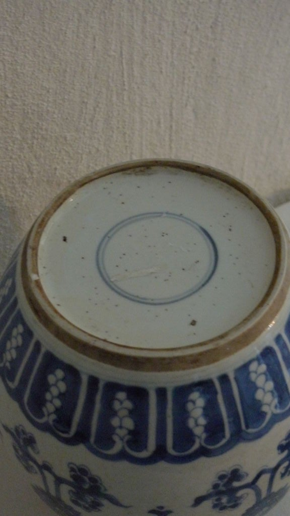 18th Century and Earlier Oriental Ceramic Ginger Jar For Sale