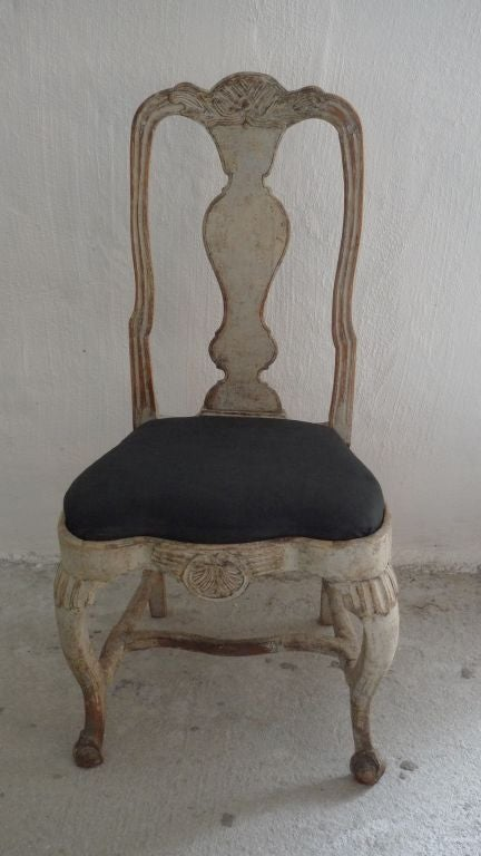 A Rare Set of 8 Swedish Rococo Chairs 3
