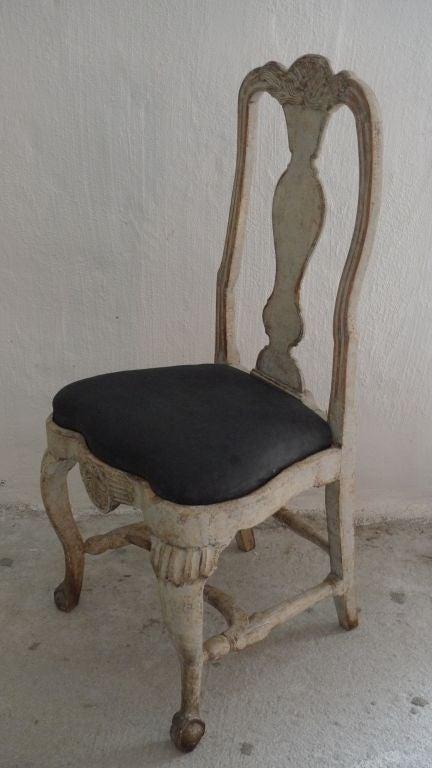 A Rare Set of 8 Swedish Rococo Chairs 4