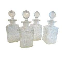 Set of 4 Glass Carafes France
