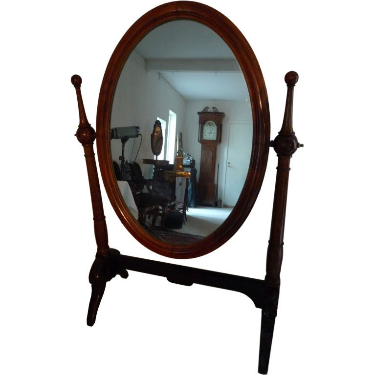 Large empire mahogany floor mirror for sale at 1stdibs for Floor length mirror for sale