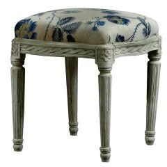 Stool Swedish Gustavian, 19th Century, Sweden