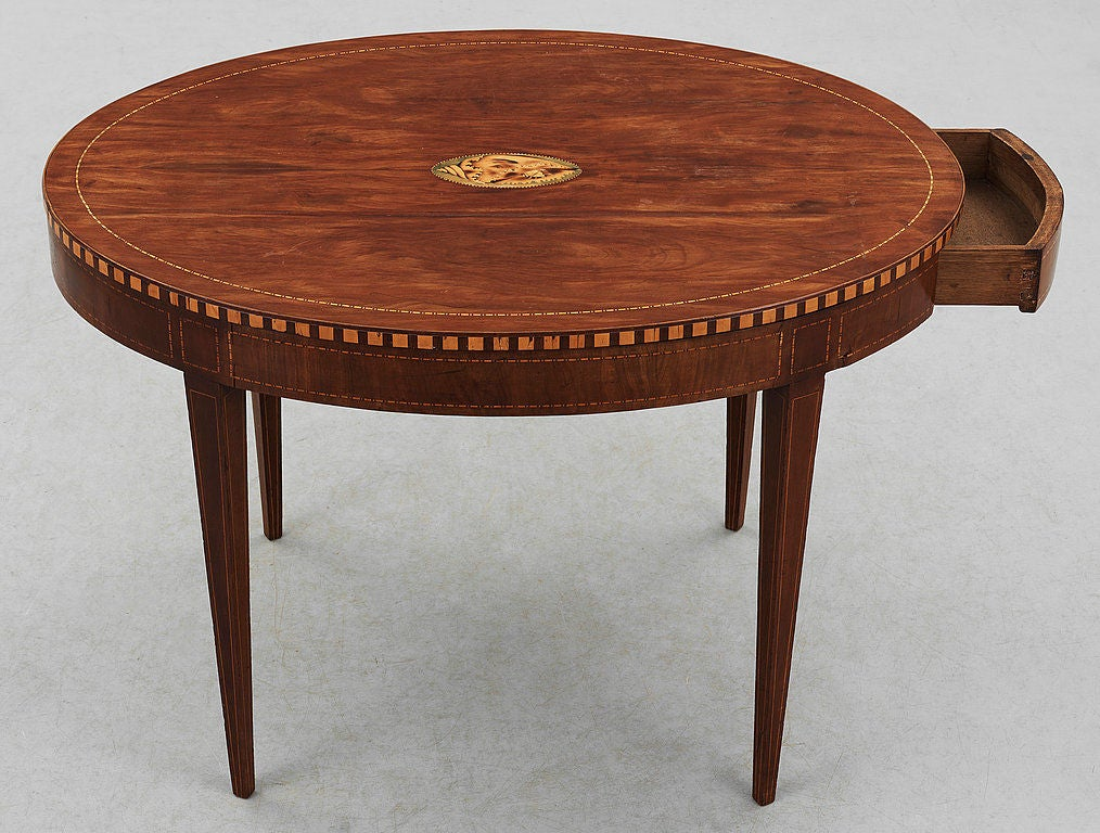 English oval side table at stdibs
