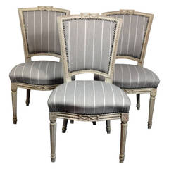 Set of 3 Louis XVI Period Side Chairs