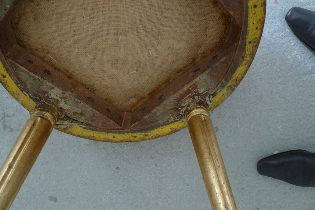 18th Century and Earlier Round Swedish Gustavian Stool