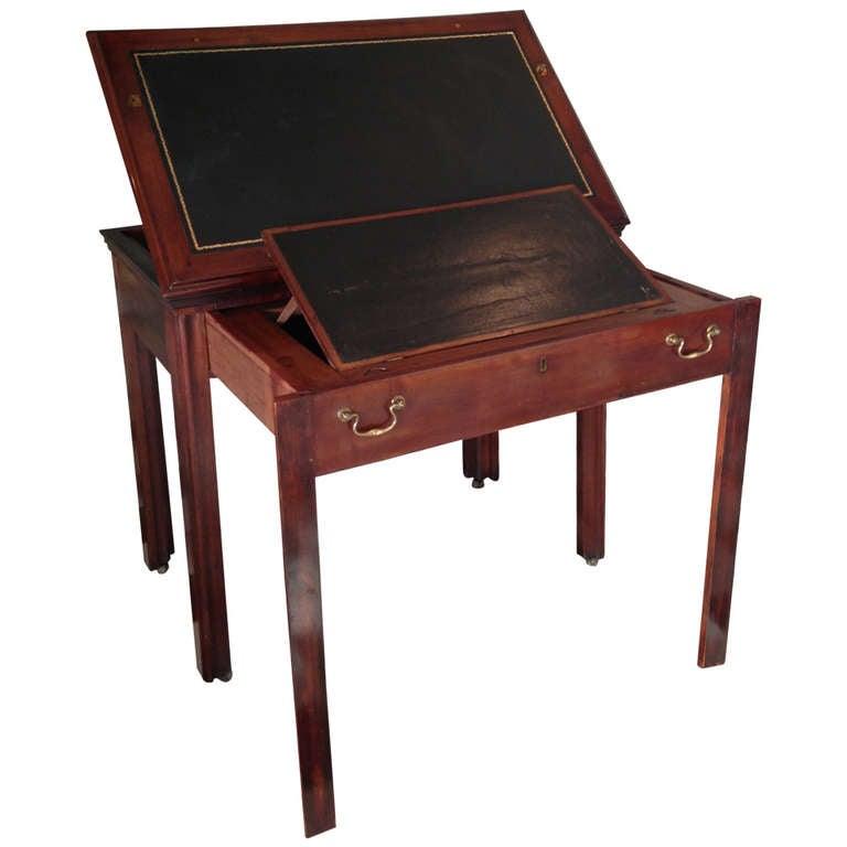 Architecture desk in mahogany for sale at 1stdibs for Architecte desl definition