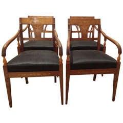 Set of 4 Danish Empire Chairs