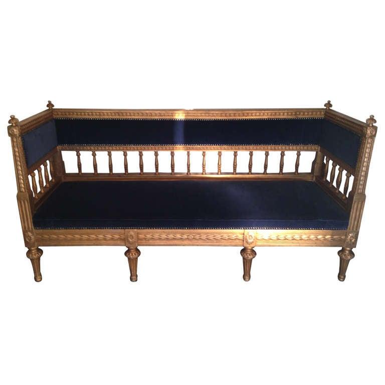 Gilded Swedish Gustavian Neoclassical Sofa At 1stdibs