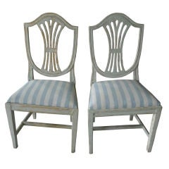 Pair of Swedish Gustavian Side Chairs