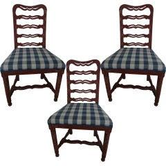 A Set of 3 Swedish Ladderback Side Chairs