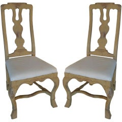 Pair of Baroque Side Chairs