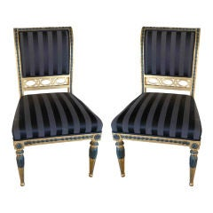 Pair of Swedish Neoclassical Side Chairs